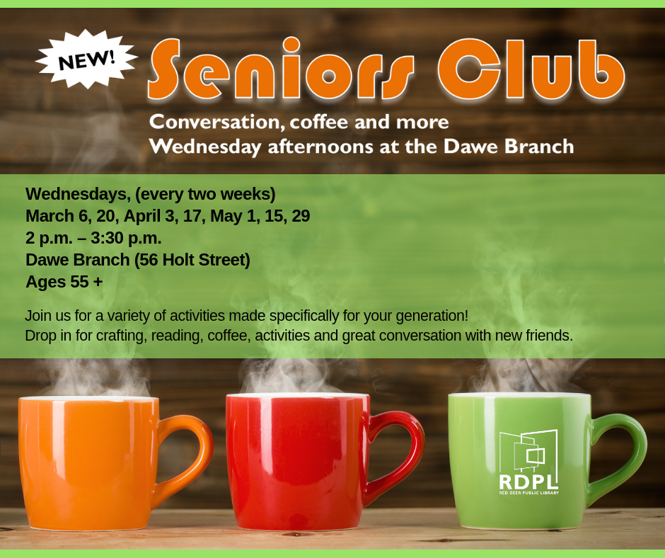 Seniors Club - Conversation, coffee and more!