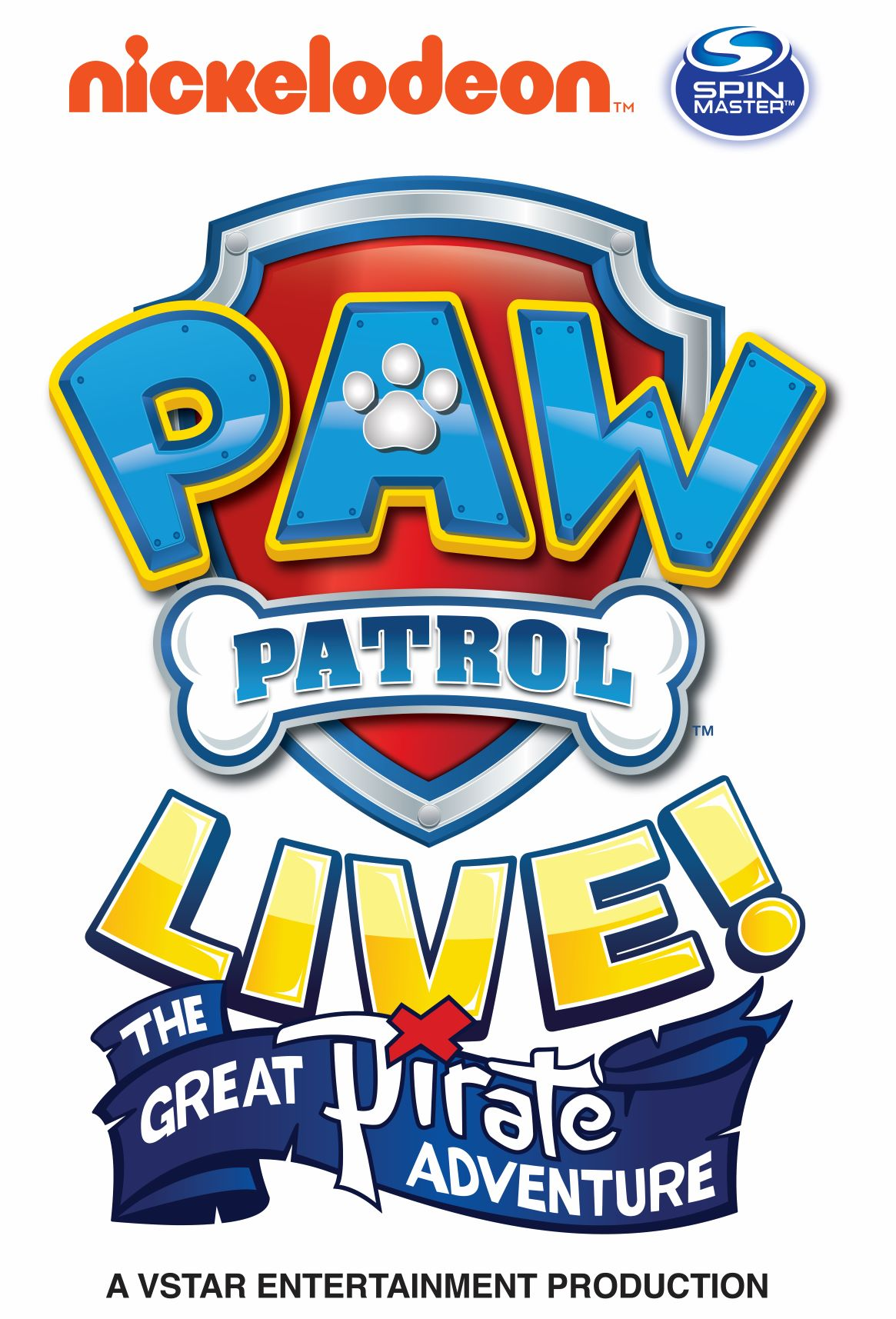 "X Barks the Spot in PAW Patrol Live! ""The Great Pirate Adventure"" in Red Deer"