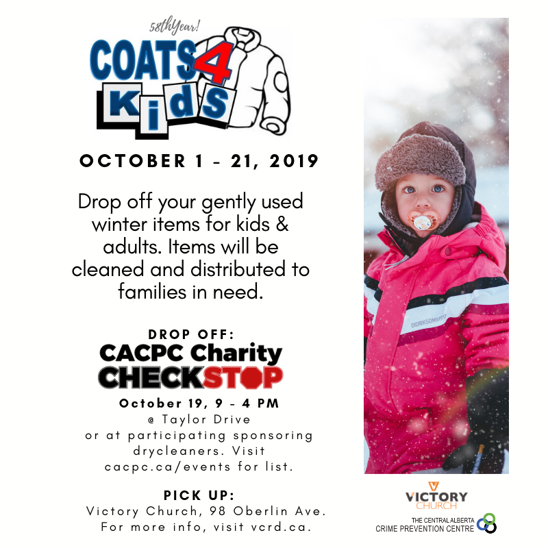 Coats for Kids & Charity Checkstop