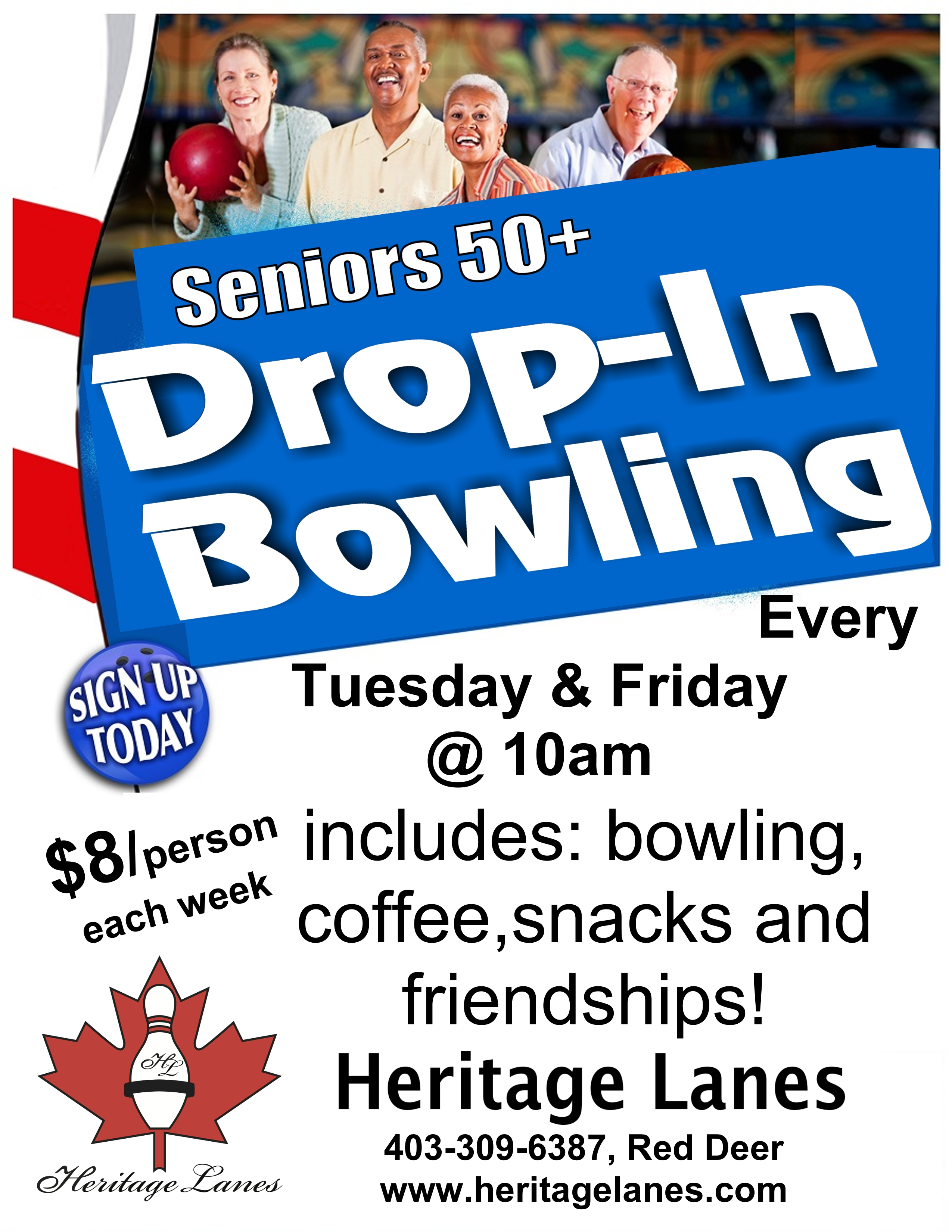 Tuesday Senior Drop In Bowling