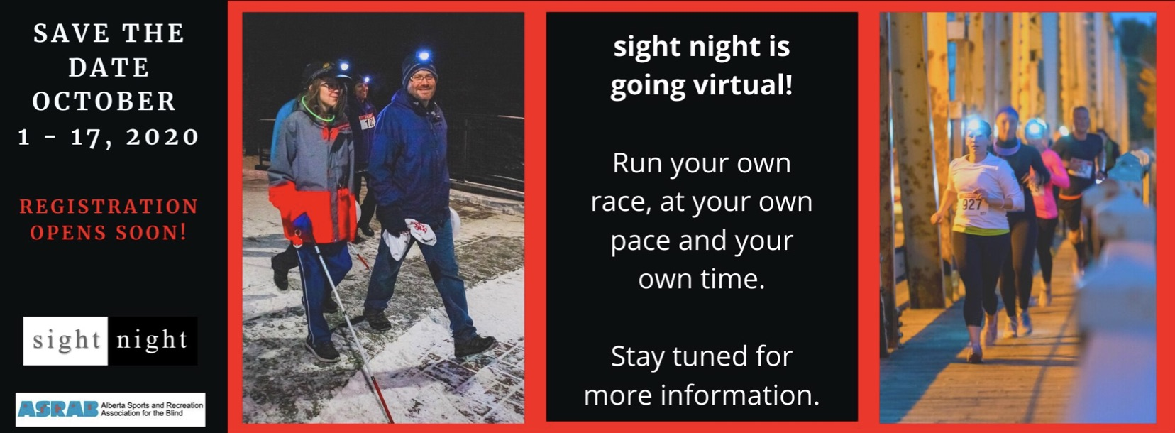 Sight Night 2020 Virtual Run and walk